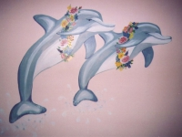 dolphins-with-leis