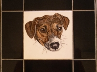 russel-terrier-tile-table