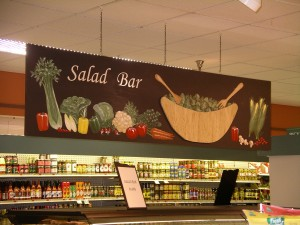 This is Bishop's Salad Bar sign which is double sided.