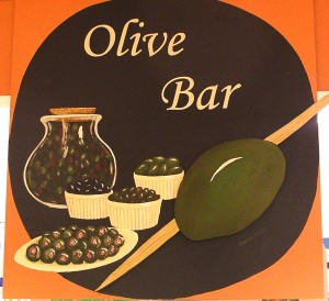 Bishop's Olive Bar sign