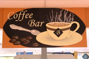 Bishop's Coffee Bar sign