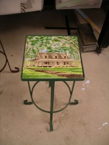 Cabin tile-top table