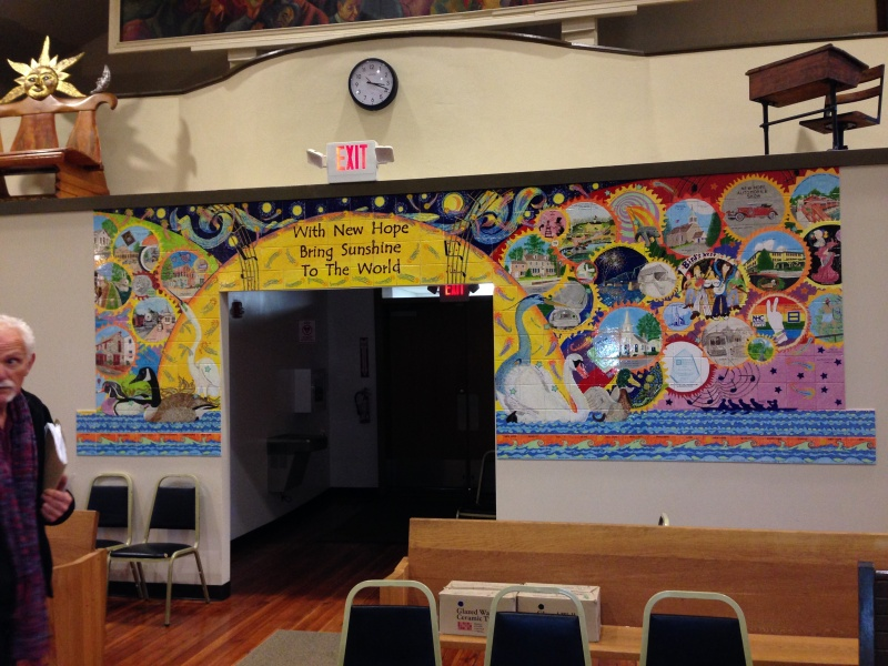 New Hope Boro Hall mural