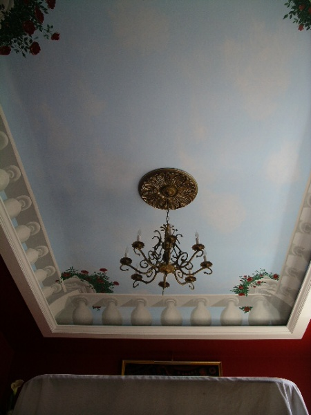 Dining Room balustrade ceiling detail